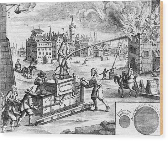 17th Century Fire Fighting Artwork Photograph By Library