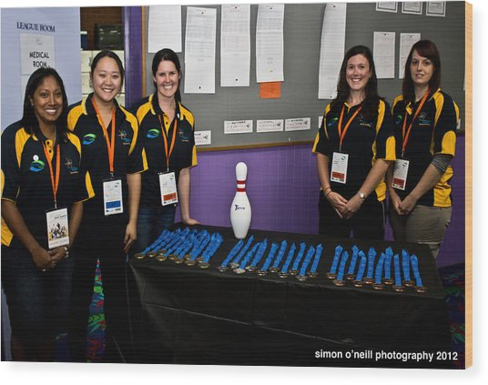 Australian Deaf Games 2012 Wood Print by Edan Chapman