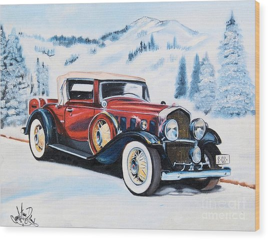 1931 La Salle Convertible Coupe Wood Print