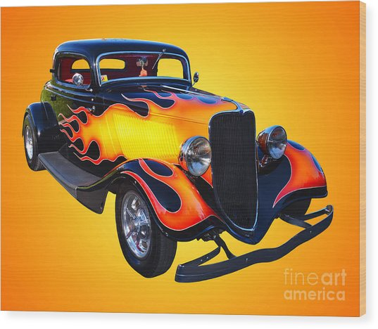 1934 Ford 3 Window Coupe Hotrod Wood Print