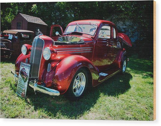 1936 Dodge Wood Print by Paul Barkevich