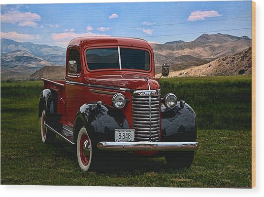 1940 Chevrolet Pickup Truck Wood Print