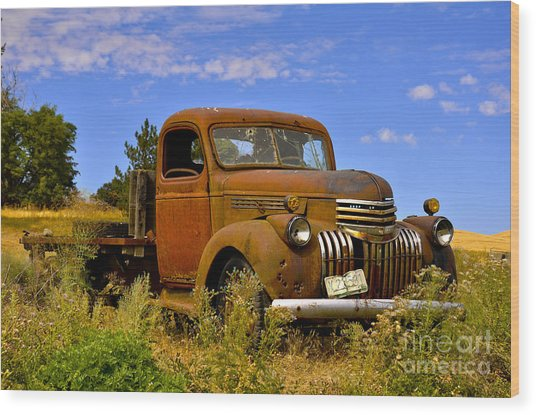 1940's Chevy Truck 2 Wood Print by Camille Lyver