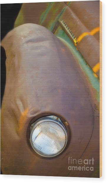 1941 International Truck Fender Wood Print