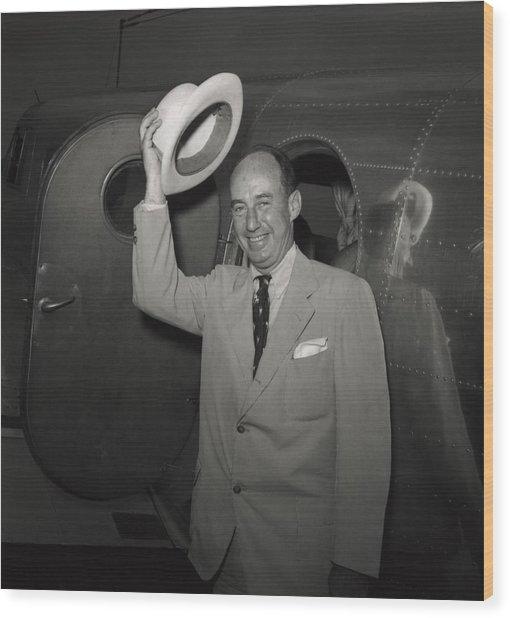 1952 Presidential Nominee Adlai Wood Print by Everett