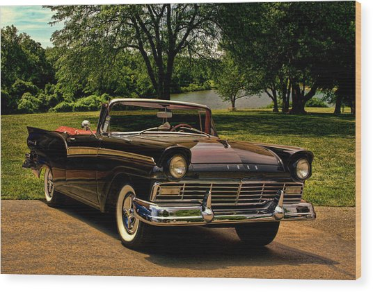 1957 Ford Fairlane 500 Convertible Wood Print