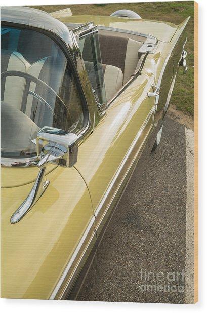 1957 Ford Fairlane 500 Skyliner Retractable Hardtop Convertible Wood Print