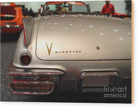 1958 Cadillac Eldorado Biarritz Convertible . Silver . 7d9466 Wood Print by Wingsdomain Art and Photography
