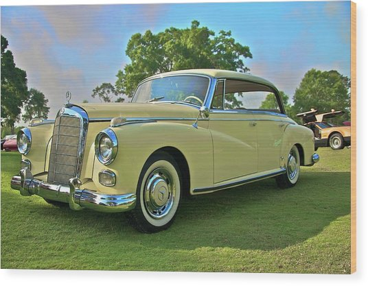 1960 Mercedes 300 Hardtop Sedan Wood Print by Mike  Capone