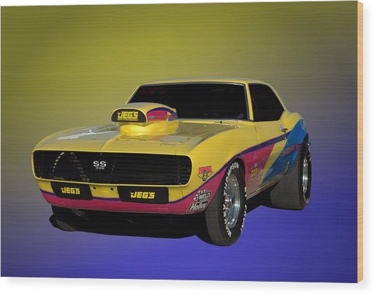 1968 Camaro Ss 396 Dragster Wood Print