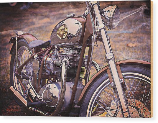 1969 Bsa Js Wood Print by SM Shahrokni
