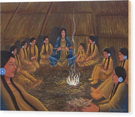 1st Pipe Ceremony Wood Print