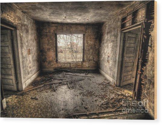 Abandoned Wood Print by Miguel Celis