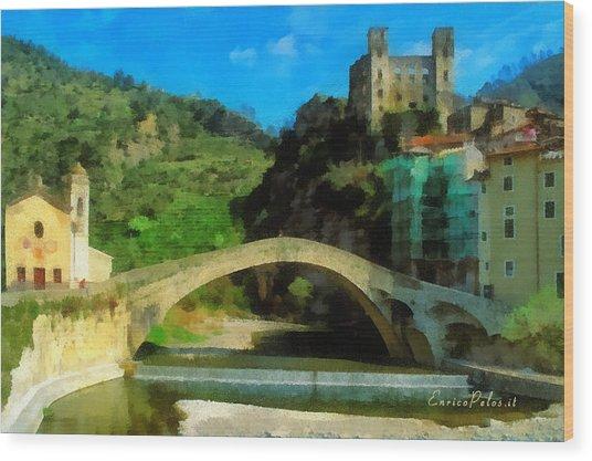 Alta Via Dei Monti Liguri - Liguria Mountains High Way Trek - Hohenweg Der Ligurischen Berge Wood Print