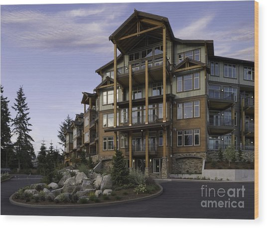 Apartment Building Entrance Wood Print by Robert Pisano