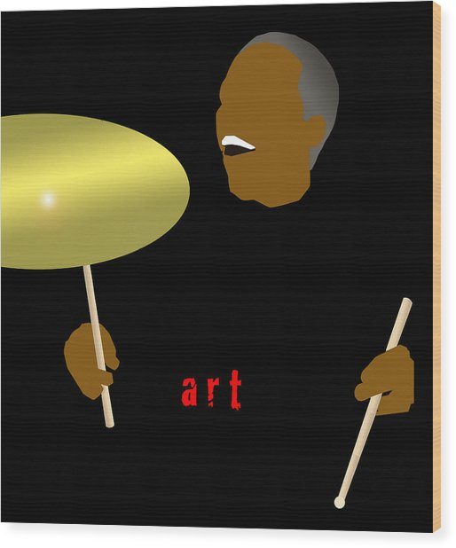 Art Blakey Wood Print by Victor Bailey