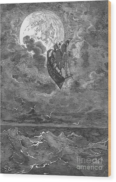 Baron Munchhausen Wood Print