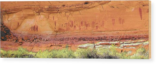 Barrier Canyon Style Rock Art Wood Print