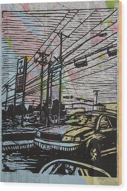 Burnet Road Wood Print