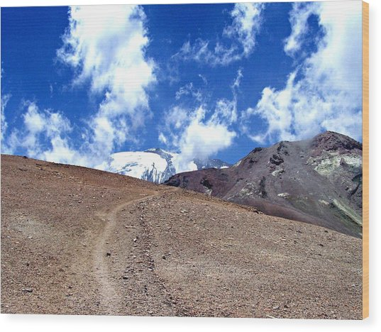 Cerro El Pintor Chile Wood Print