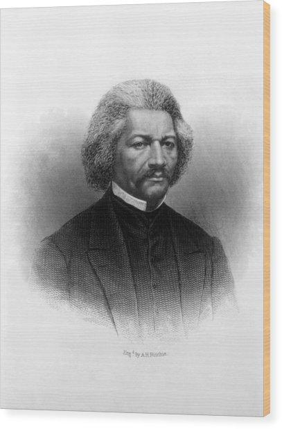 Frederick Douglass Ca 1817-1895 Wood Print by Everett