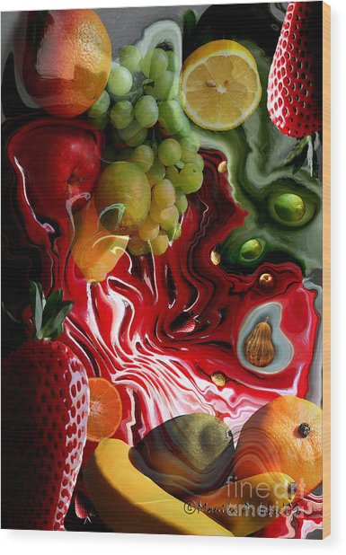 Fruit Medley Wood Print