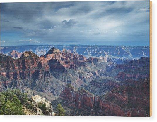 Grand Canyon North Rim After A Storm Wood Print by C Thomas Willard