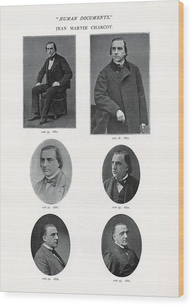 Jean-martin Charcot, French Neurologist Wood Print by Humanities & Social Sciences Librarynew York Public Library