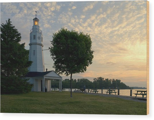 Kimberly Point Lighthouse Wood Print