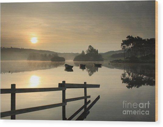 Knapps Loch Sunrise Wood Print