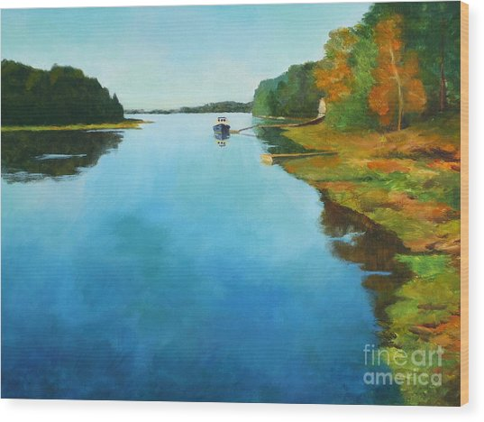 Little River Gloucester Wood Print