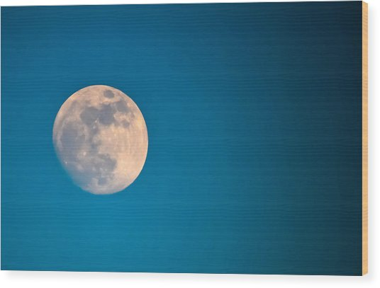 Moonscape Wood Print by Brian Stevens