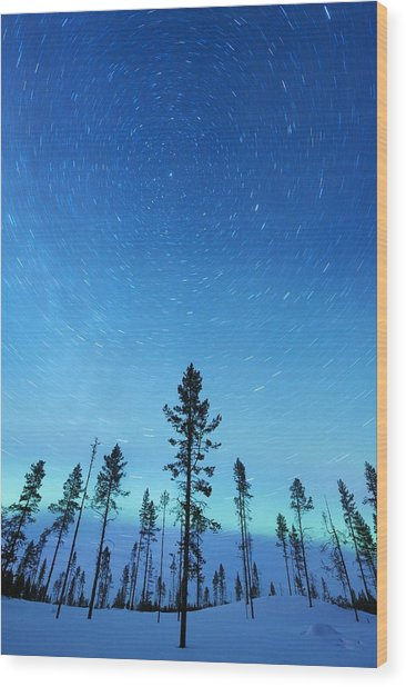 Northern Lights Wood Print by Jeremy Walker