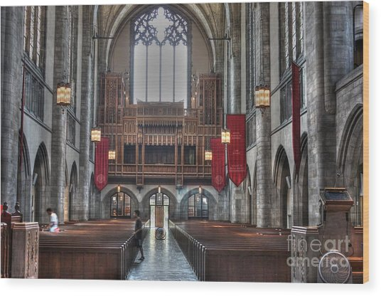 Organ Loft Wood Print by David Bearden