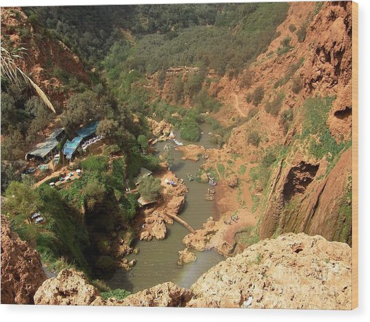 Ouzoud Falls Morocco Wood Print by Sophie Vigneault