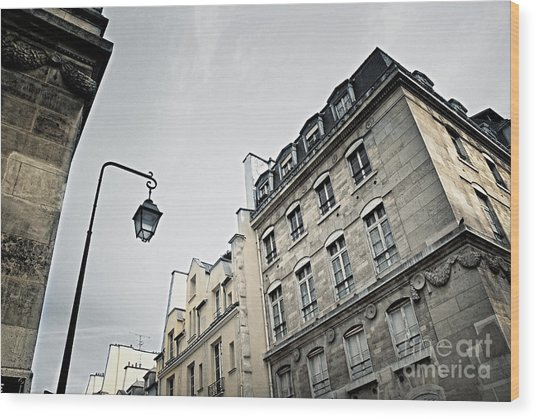 Paris Street Wood Print