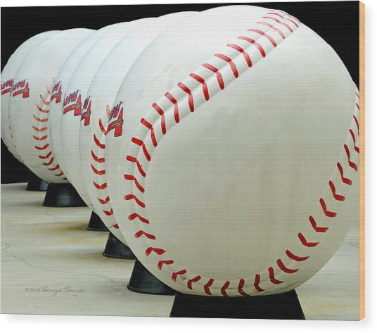Play Ball....... Wood Print