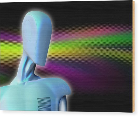 Robot, Artwork Wood Print by Victor Habbick Visions