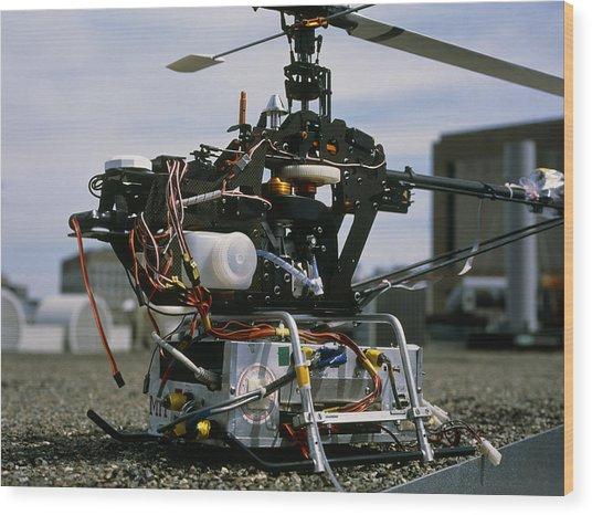 Robotic Helicopter Wood Print by Volker Steger