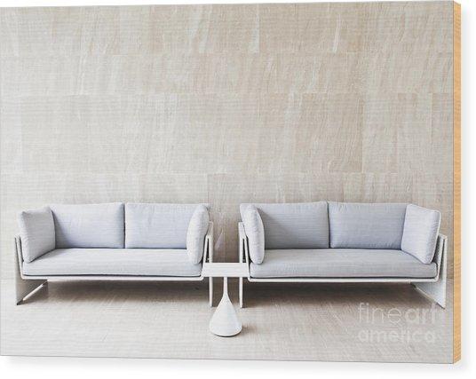 2 Sofas Wood Print by Chavalit Kamolthamanon
