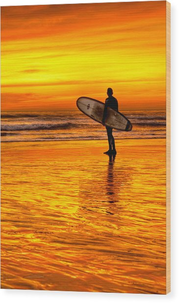 Surfing Sensations Wood Print by Donna Pagakis