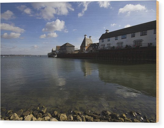 The Stour Estuary Manningtree Essex Wood Print by Darren Burroughs