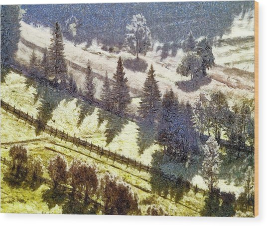 Transylvania Landscape Wood Print by Odon Czintos