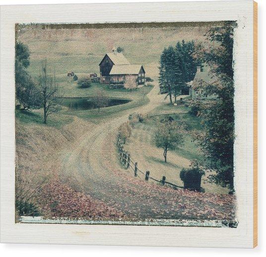 Vermont Farm Wood Print