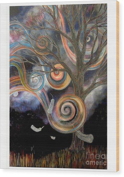 Welcome Wind Wood Print
