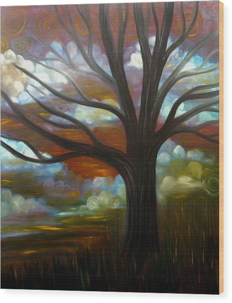 Whirling Wind Wood Print