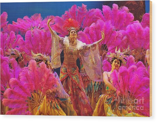 Asian Splendors Series Wood Print by Terry Troupe
