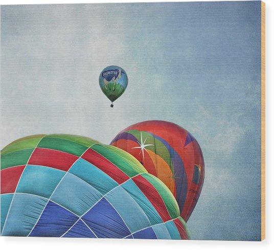 3 Balloons At Readington Wood Print