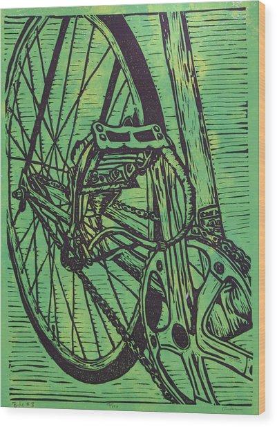 Bike 3 Wood Print