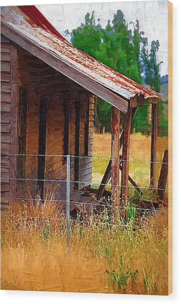 Old House In Australia Wood Print